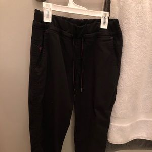 Small med couture scrub pants black